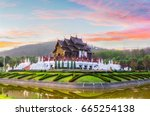 the royal pavilion  ho kham... | Shutterstock . vector #665254138