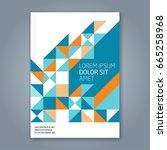 abstract minimal geometric line ... | Shutterstock .eps vector #665258968