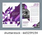 abstract minimal geometric... | Shutterstock .eps vector #665259154
