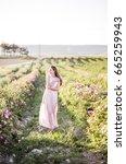 pretty young tender woman... | Shutterstock . vector #665259943