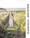 pretty young tender woman... | Shutterstock . vector #665259949