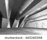 dark empty room. concrete rusty ... | Shutterstock . vector #665260348