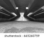 dark basement empty room...   Shutterstock . vector #665260759