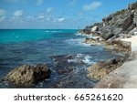 south point  punta sur  at the... | Shutterstock . vector #665261620