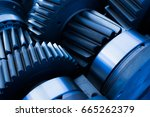 gear transmission | Shutterstock . vector #665262379