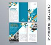 brochure design  brochure... | Shutterstock .eps vector #665262760