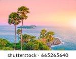 landscape viewpoint of laem... | Shutterstock . vector #665265640