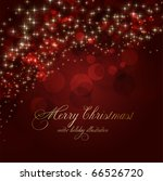 christmas background  vector | Shutterstock .eps vector #66526720