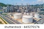petrochemical plant on blue sky ... | Shutterstock . vector #665270176