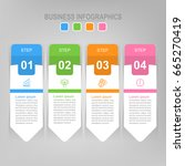 infographic template of four...   Shutterstock .eps vector #665270419