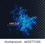 vector illustration of smoky... | Shutterstock .eps vector #665277100
