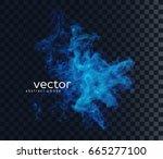 vector illustration of smoky... | Shutterstock .eps vector #665277100