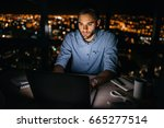 focused young businessman...   Shutterstock . vector #665277514