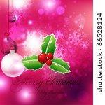 merry christmas elegant... | Shutterstock .eps vector #66528124