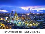top view cityscape wat trimitr... | Shutterstock . vector #665295763