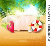 summer time background with... | Shutterstock .eps vector #665297938