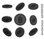 flat cartoon coins with thai...   Shutterstock .eps vector #665304520