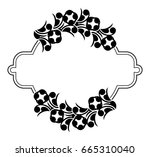 black and white silhouette... | Shutterstock .eps vector #665310040