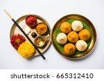 a modak is an indian sweet... | Shutterstock . vector #665312410