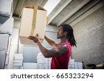 black handsome muscular man...   Shutterstock . vector #665323294