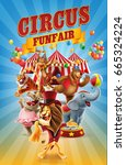 Circus Funfair With Animals