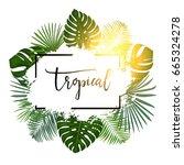 summer tropical background... | Shutterstock .eps vector #665324278
