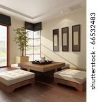 Interior Of A Living Room 3d...