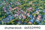 neighborhood with residential...   Shutterstock . vector #665329990