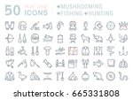 set of line icons  sign and... | Shutterstock . vector #665331808