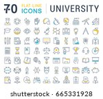 set of line icons  sign and... | Shutterstock . vector #665331928
