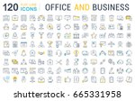 set of line icons in flat... | Shutterstock . vector #665331958