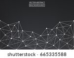 lines background dots with...   Shutterstock .eps vector #665335588