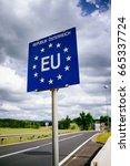 austrian border sign   Shutterstock . vector #665337724