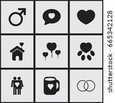 set of 9 editable love icons....