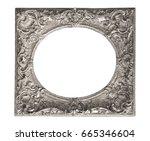 silver frame for paintings ... | Shutterstock . vector #665346604