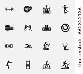 set of 16 editable active icons....