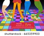 Disco Party Flyer. Feet Of...