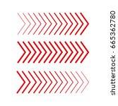 sideways set . linear signs... | Shutterstock .eps vector #665362780