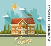 back to school vector...   Shutterstock .eps vector #665364178