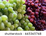 healthy fruits red wine grapes... | Shutterstock . vector #665365768