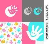 logo children center funny... | Shutterstock .eps vector #665371393