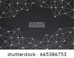 abstract line. vector abstract... | Shutterstock .eps vector #665386753