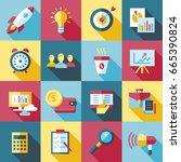 digital vector red startup... | Shutterstock .eps vector #665390824