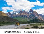 mount fitz roy massif in los... | Shutterstock . vector #665391418