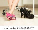 closeup photo of businesswomen... | Shutterstock . vector #665393770