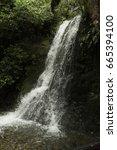 Rushing Waterfall In Lush...