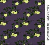 seamless vector pattern. hand...   Shutterstock .eps vector #665397499
