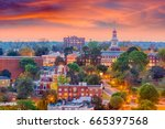 macon  georgia  usa historic... | Shutterstock . vector #665397568