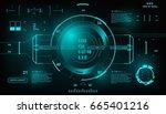 futuristic blue virtual graphic ... | Shutterstock .eps vector #665401216