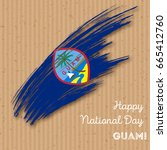 guam independence day patriotic ... | Shutterstock .eps vector #665412760